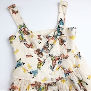 Nanette Lepore Peasant French Butterfly Dress